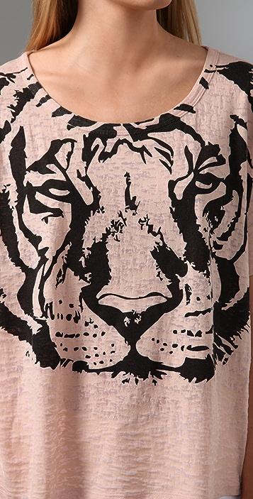 Torn by Ronny Kobo Bianca Tiger Tee