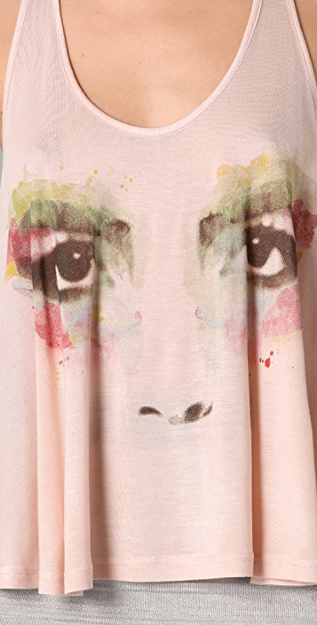 Torn by Ronny Kobo Tracy Watercolor Eyes Swing Tank