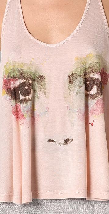 Torn by Ronny Kobo Tracy Watercolor Eyes Swing Tank
