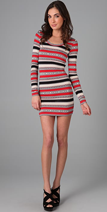 Torn by Ronny Kobo Zoe Blanket Print Dress