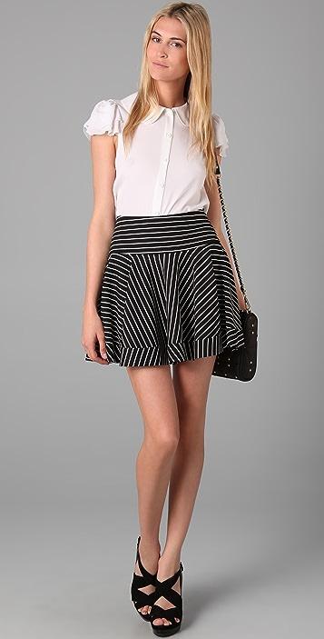Torn by Ronny Kobo Ally Striped Skirt