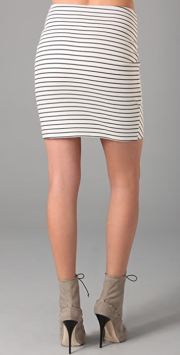 Torn by Ronny Kobo Ashley Mixed Stripes Miniskirt