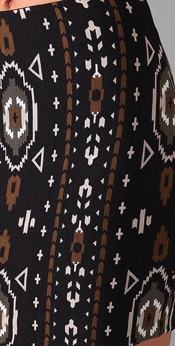 Torn by Ronny Kobo Astrid Aztec Print Miniskirt
