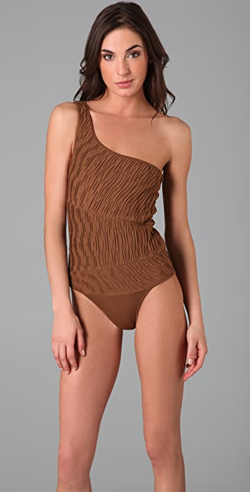 Torn by Ronny Kobo Jane Ruched Bodysuit