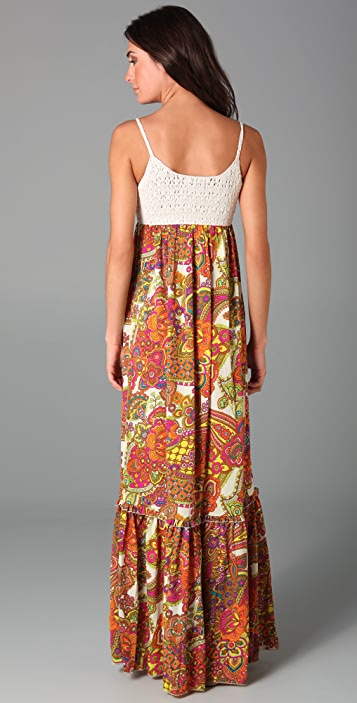 Torn by Ronny Kobo Robyn Paisley Maxi Dress