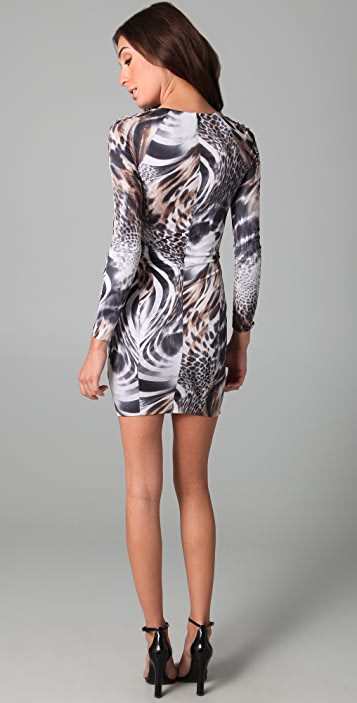 Torn by Ronny Kobo Tory Snow Leopard Dress