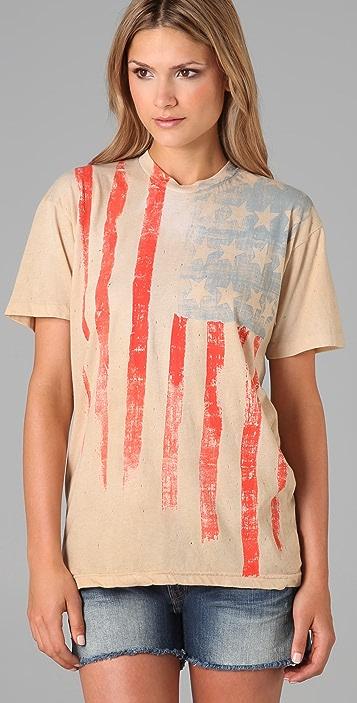 Torn by Ronny Kobo American Flag Boyfriend Tee