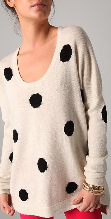Torn by Ronny Kobo Jovia Polka Dot Sweater
