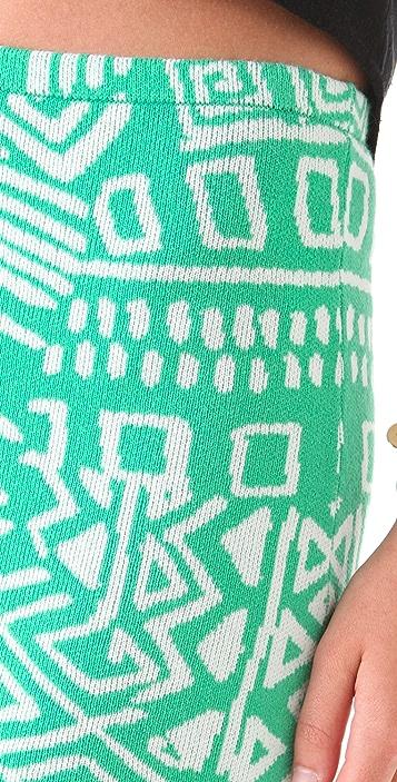 Torn by Ronny Kobo Astrid Print Miniskirt