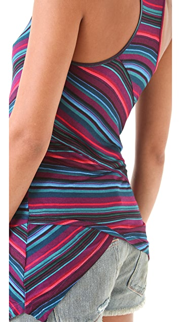 Torn by Ronny Kobo Josine Blanket Stripes Tank Top