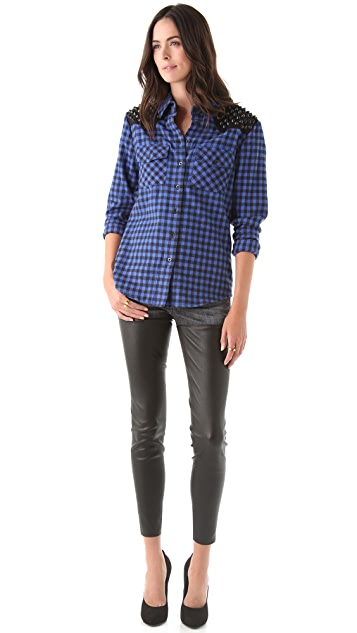 Torn by Ronny Kobo Roby Plaid Shirt