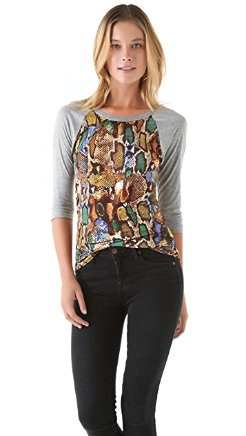 Torn by Ronny Kobo Britt Amazon Snake Raglan Tee
