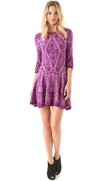 Torn by Ronny Kobo Elizabeth Royal Sweater Dress