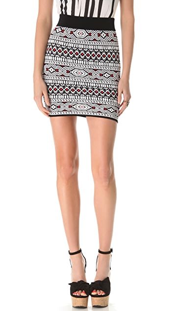 Torn by Ronny Kobo Celine Tribal Skirt