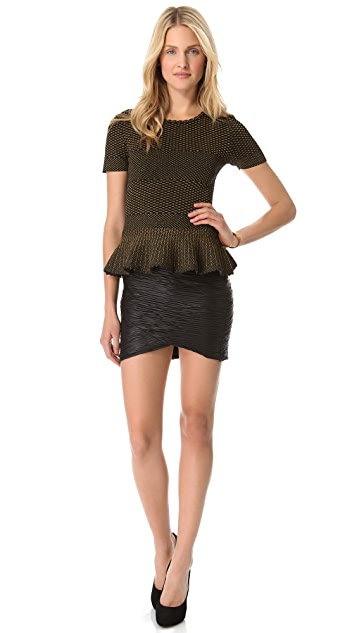 Torn by Ronny Kobo Elena Crocodile Knit Top