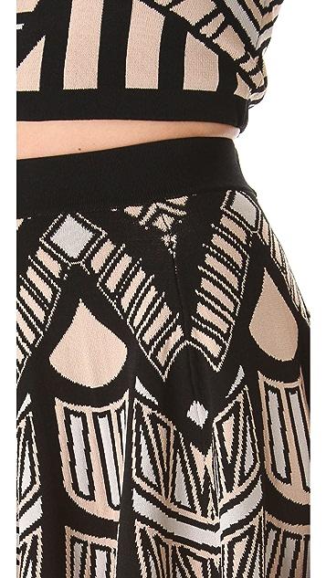 Torn by Ronny Kobo Anabella Mosaic Jacquard Skirt