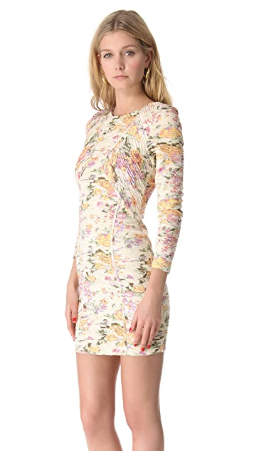Torn by Ronny Kobo Lili Pleated Floral Dress