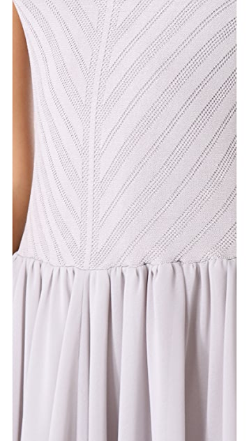 Torn by Ronny Kobo Renae Knit Chiffon Dress