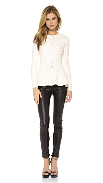 Torn by Ronny Kobo Layla Cable Knit Sweater