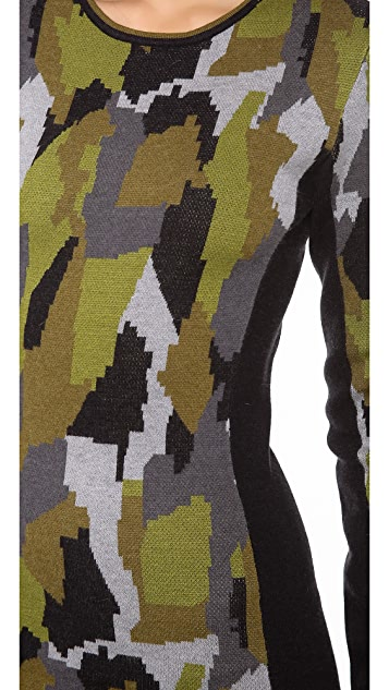 Torn by Ronny Kobo Taylor Camouflage Dress