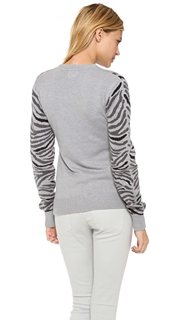 Torn by Ronny Kobo Shauna Zebra Sweater