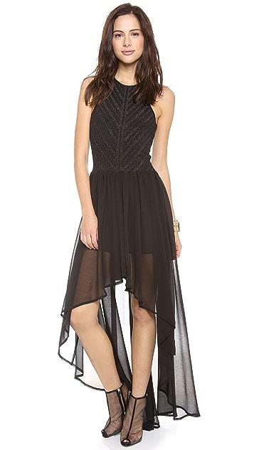 Torn by Ronny Kobo Renea Metallic Knit Dress