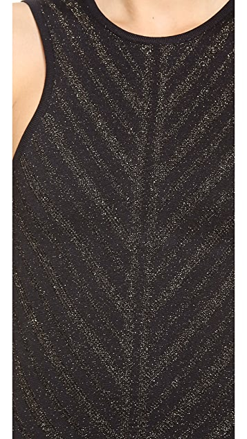 Torn by Ronny Kobo Renea Metallic Knit Dress