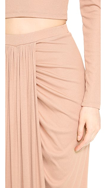 Torn by Ronny Kobo Scarlet Maxi Skirt