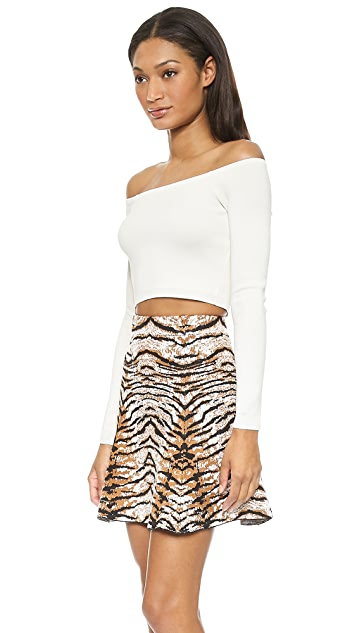Torn by Ronny Kobo Nediva Milano Crop Top