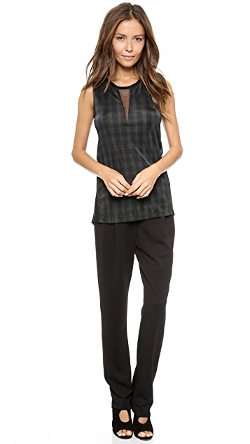 Torn by Ronny Kobo Sible Autumn Plaid Tank