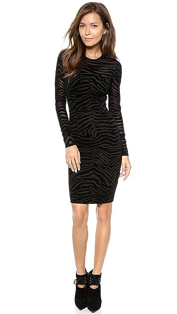 Torn by Ronny Kobo Magnolia Flocked Zebra Dress