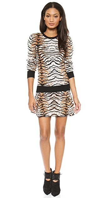 Torn by Ronny Kobo Karine Tiger Jacquard Skirt