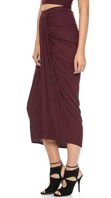 Torn by Ronny Kobo Scarlet Midi Skirt