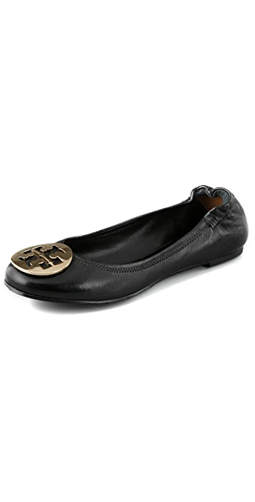 73ea85ab7f98 Tory Burch Nappa Leather Reva Ballet Flats