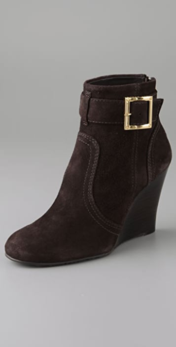 Tory Burch Deanna Wedge Suede Booties