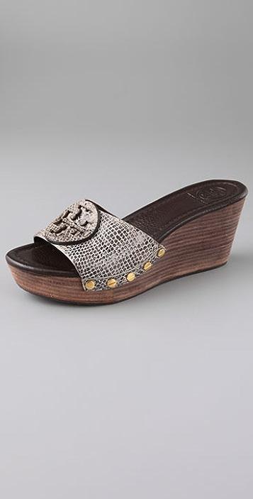 37a2b6e67aa Tory Burch Patti Wedge Sandals