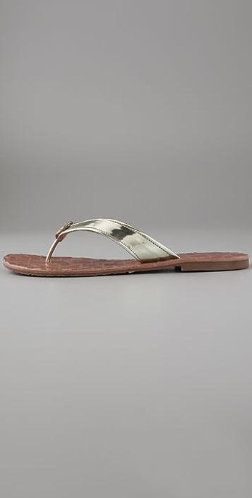 8cbc6fc8aeeb ... Tory Burch Thora Flat Thong Sandals on Flexible Sole ...