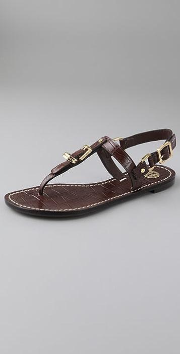 0b2e0be28f2924 Tory Burch Trent Croc Print Thong Sandals