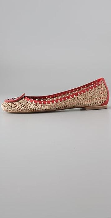 Tory Burch Rory Crochet Ballet Flats