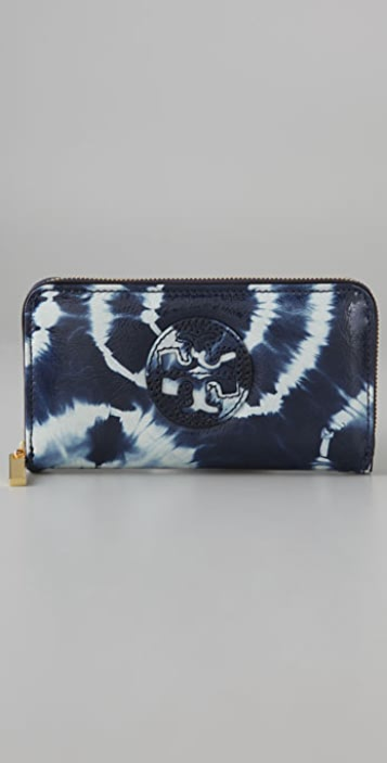 Tory Burch Tie Dye Zip Continental Wallet