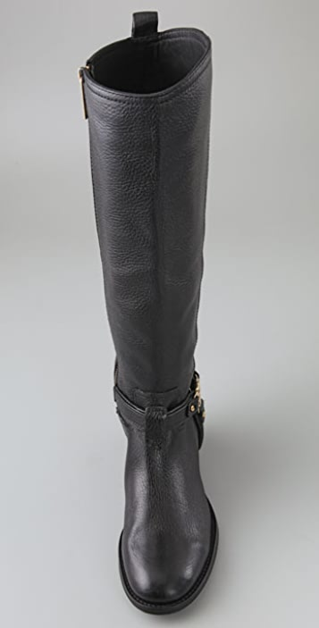 Tory Burch Elle Riding Boots with Logo Strap