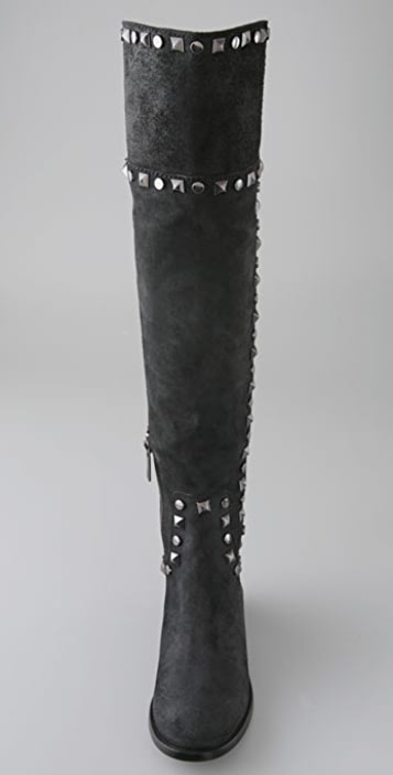 Tory Burch Rhett Suede Over the Knee Boots