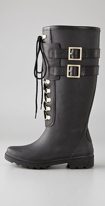 Tory Burch Buckle Rain Boots