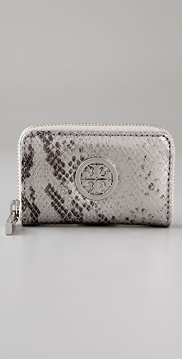 Tory Burch Metallic Snake Zip Coin Purse