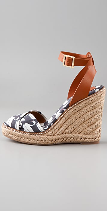 Tory Burch Crisscross Wedge Espadrilles