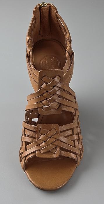 Tory Burch Tevray Huarache Wedge Sandals