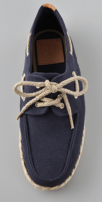 Tory Burch Canvas Boat Shoes