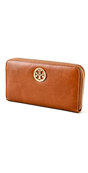 Tory Burch Leather Zip Continental Wallet