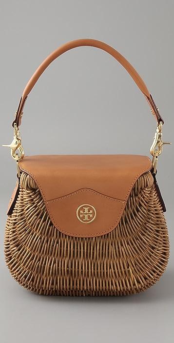 97bd11e73ee Tory Burch Small Wicker Basket Bag