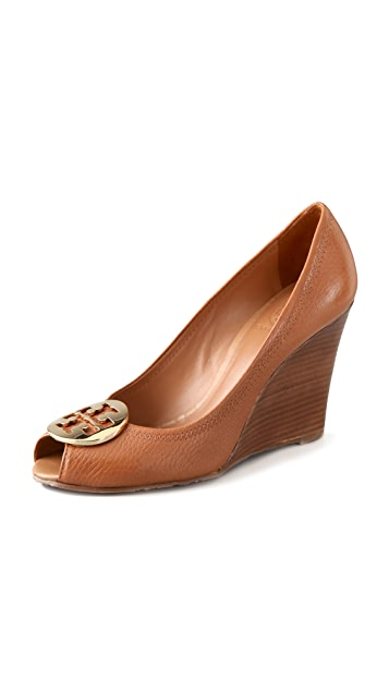 aa77e0c825c8 Tory Burch Julianne Peep Toe Wedge Heels